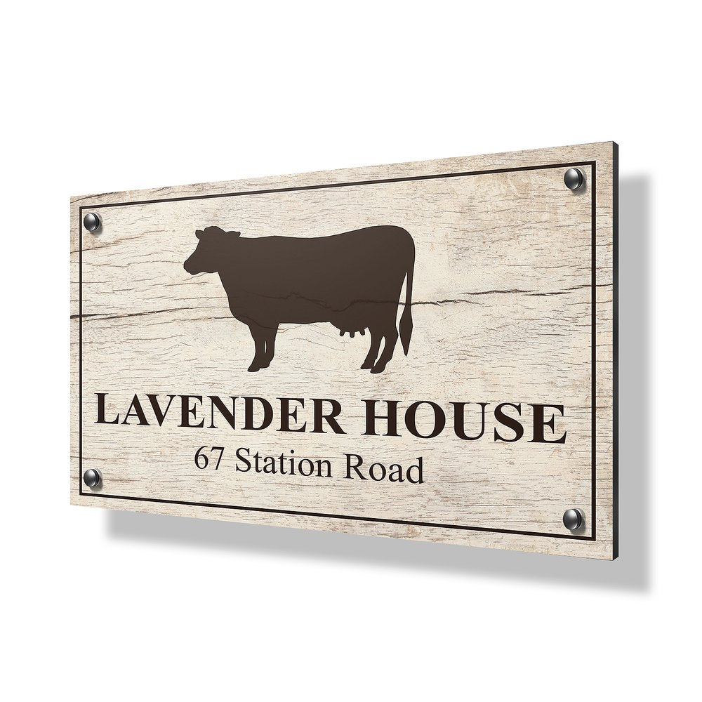 Cow Business & Property Sign - 30x20""