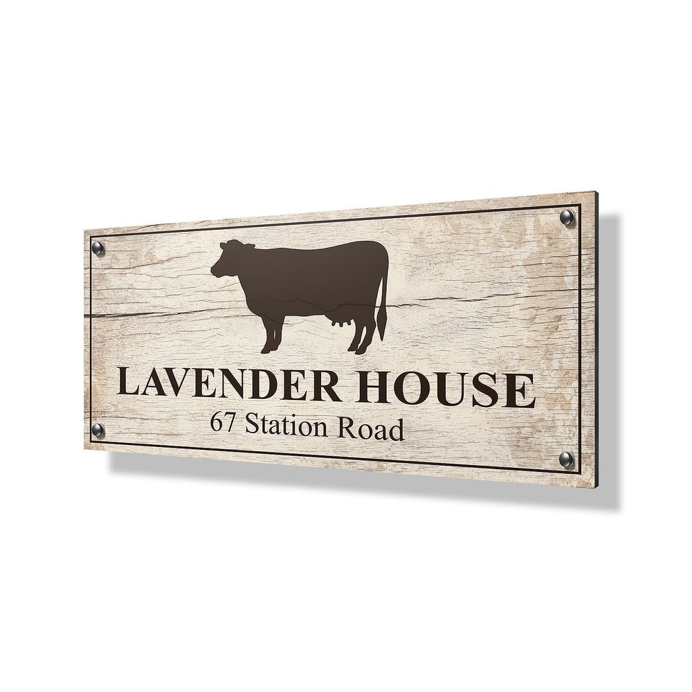 Cow Business & Property Sign - 24x12""