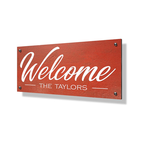 Welcome Business & Property Sign - 24x12""