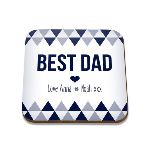 Best Dad Square Coaster - Set of 4