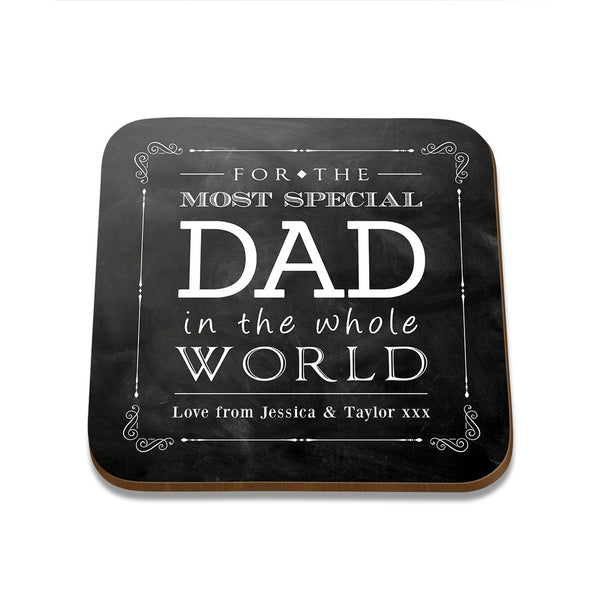 Special Dad Square Coaster - Set of 4