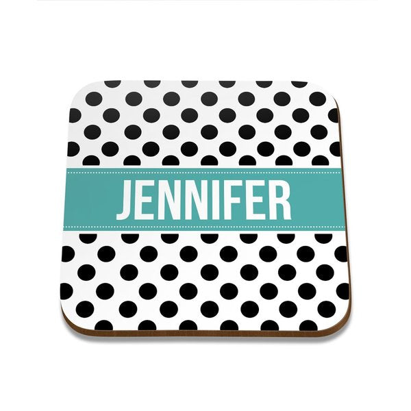 Polka Dot Square Coaster - Set of 4