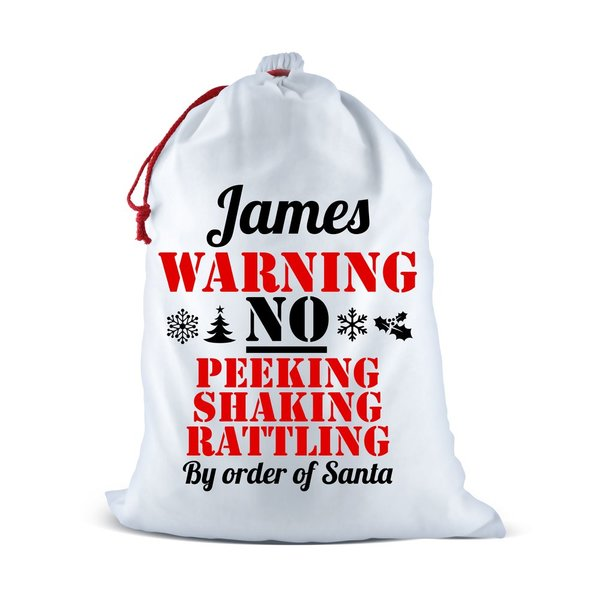 Warning Santa Sack