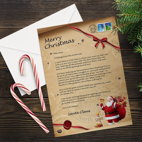 Old Fashioned Santa Letter
