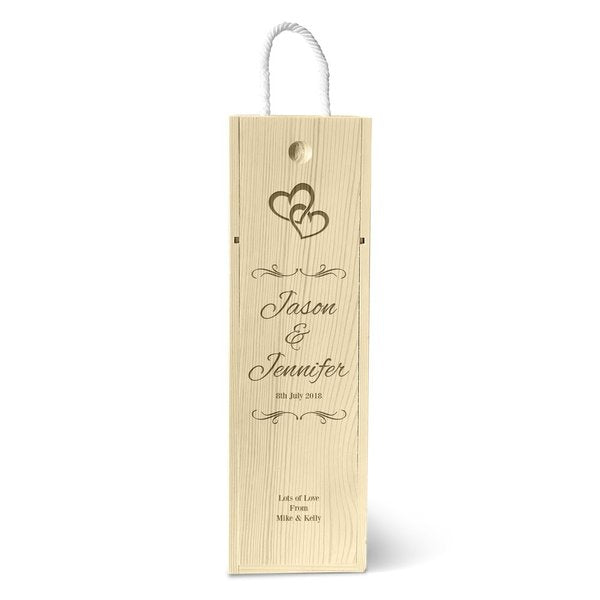 Hearts Single Wine Box