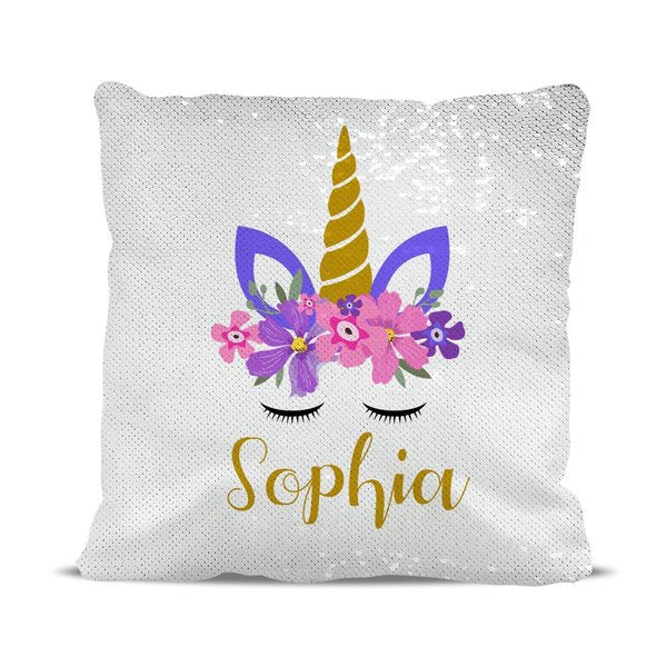 Unicorn Magic Sequin Cushion Cover