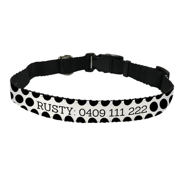 Spotty Pet Collar - Medium