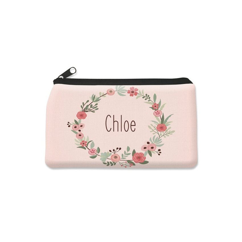 Flower Wreath Pencil Case - Small