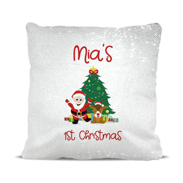 1st Christmas Magic Sequin Cushion Cover