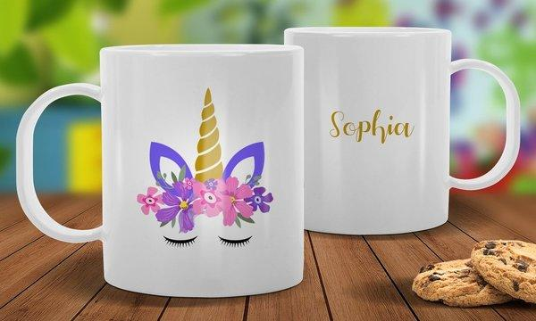 Unicorn White Plastic Mug