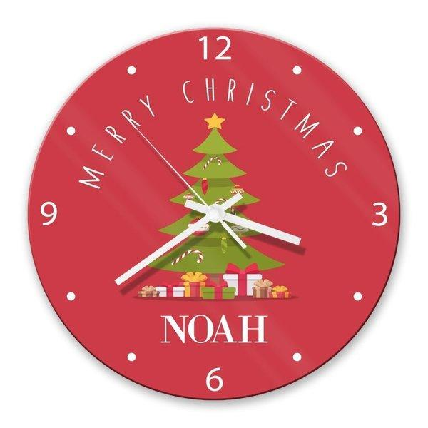 Christmas Tree Glass Clock