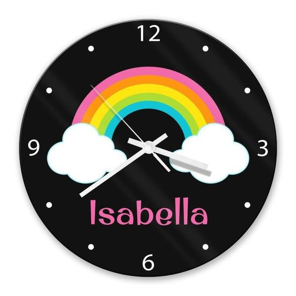 Rainbow Glass Clock