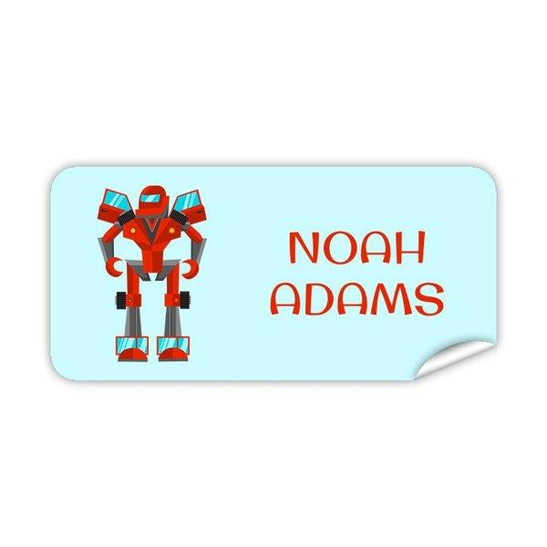 Robot Rectangle Labels 48pk