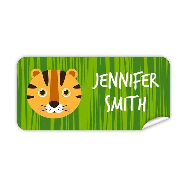 Tiger Rectangle Labels 48pk