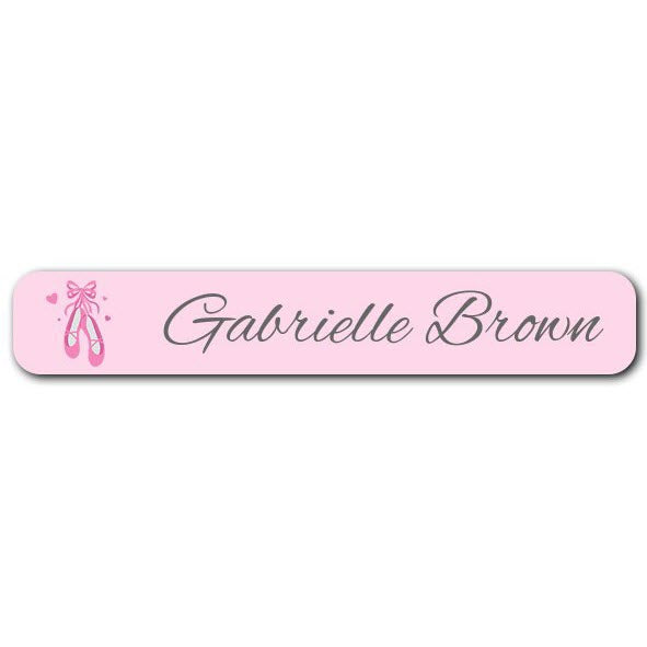 Ballet Shoes Mini Name Labels 78pk (Temporary Out of Stock)