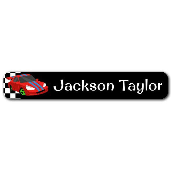 Race Cars Mini Name Labels 72pk