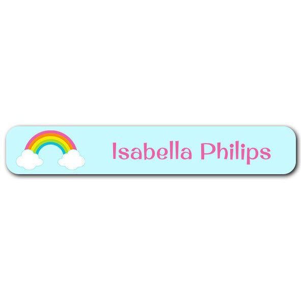 Rainbow Mini Name Labels 72pk