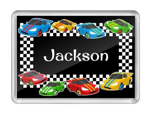 Race Cars Fridge Magnet
