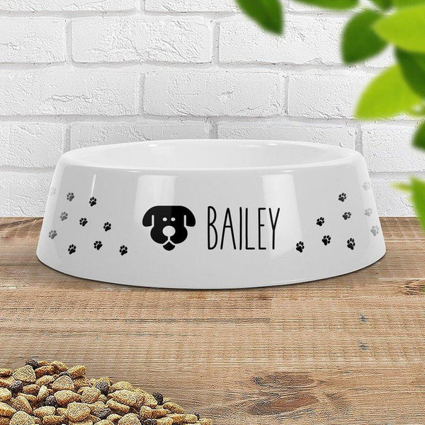Paw Prints - Dog Pet Bowl - Large