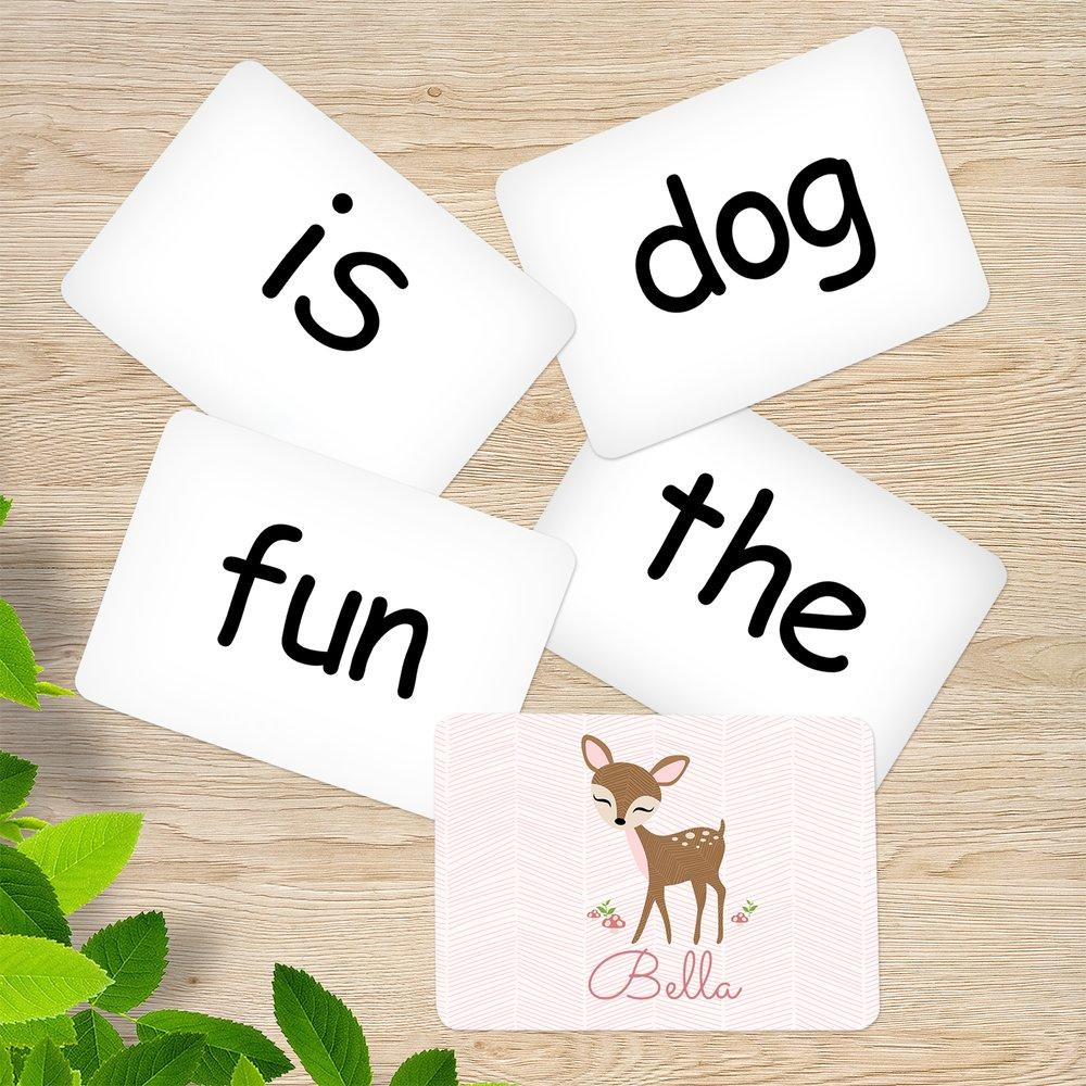 Cute Deer Sight Word Cards