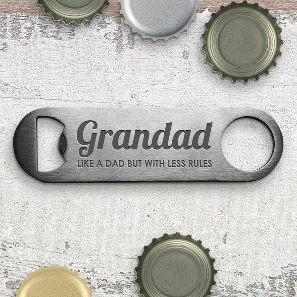 Less Rules Engraved Bottle Opener