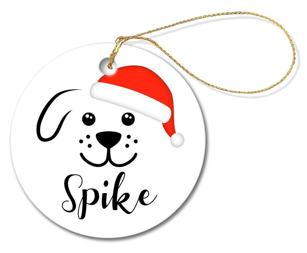 Spike Round Porcelain Ornament