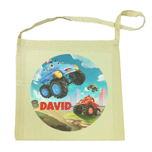 Monster Truck Calico Tote Bag