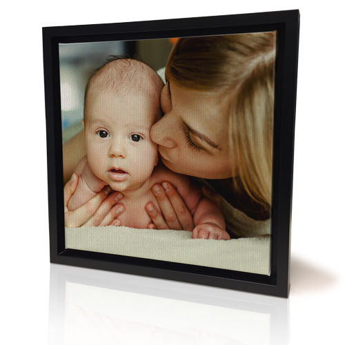 "12 x 12"" (30x30cm) Black Framed Canvas Print"
