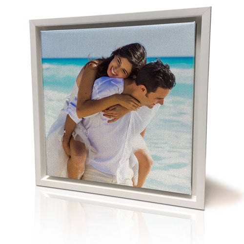 "12 x 12"" (30x30cm) White Framed Canvas Print"