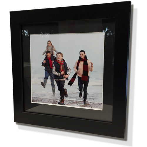 "15x15"" Black Frame with Black Border (9x9"" Print)"