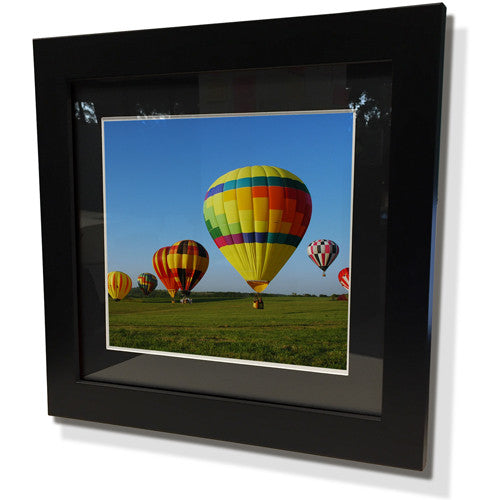 "19x19"" Black Frame with Black Border (12x12"" Print)"