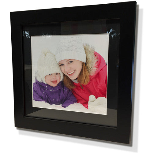 "28x28"" Black Frame with Black Border (19x19"" Print)"