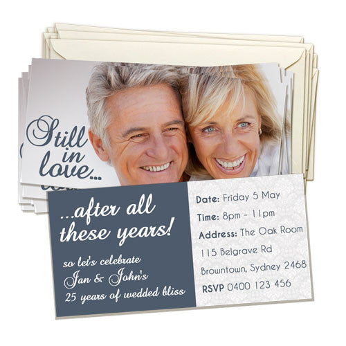 "4x8"" (10x20cm) Double Sided Invitation Card (20 pack)"