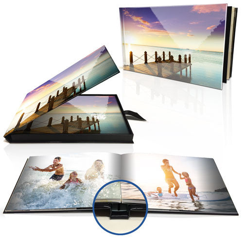 "8x11"" Premium Layflat Photo Book (Landscape) in Presentation Box"
