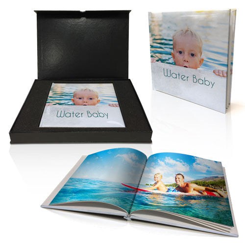 "8x8"" Personalised Padded Book in Presentation Box"