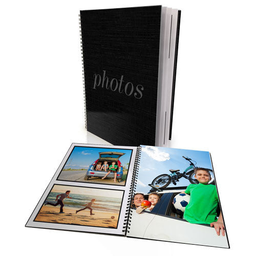 A4 Spiral Bound Photo Book - 40 Pages (120 Photos)