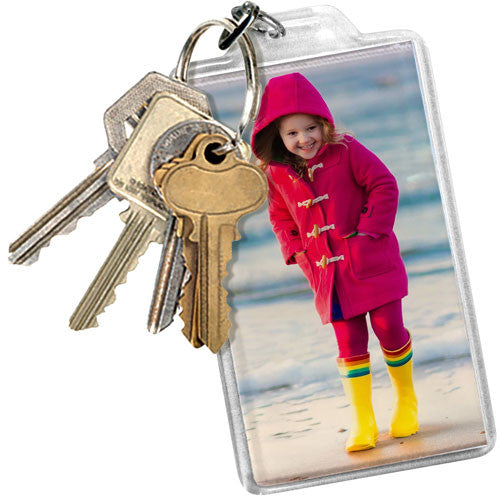 Large Rectangle Photo Keyring