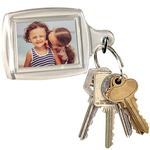 Small Rectangle Photo Keyring