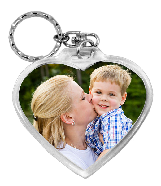 Love Heart Photo Keyring