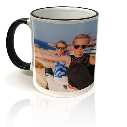 Colour Trim Mug - Black & White