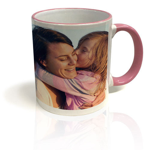 Colour Trim Mug - Pink & White