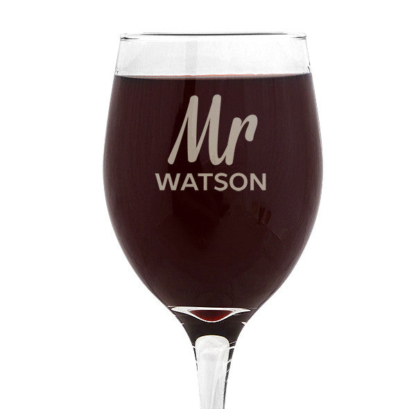 Mr Design Wine 410ml Glass