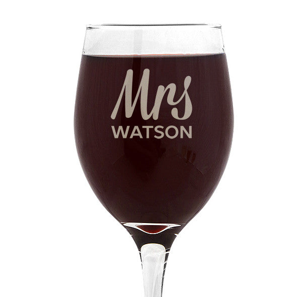 Mrs Design Wine Glass