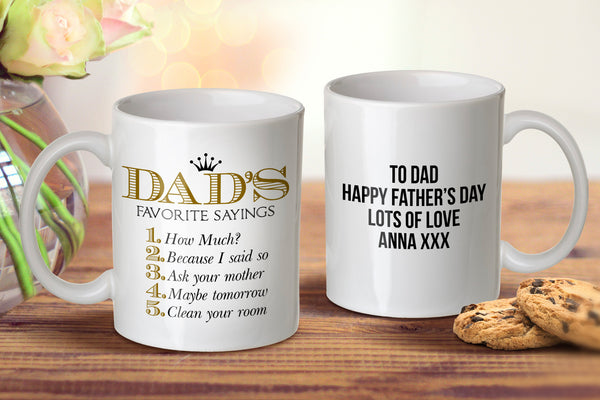 Dad's Sayings Mug