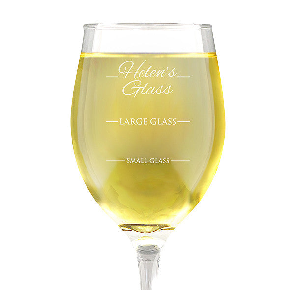 Person's Design Wine 410ml Glass