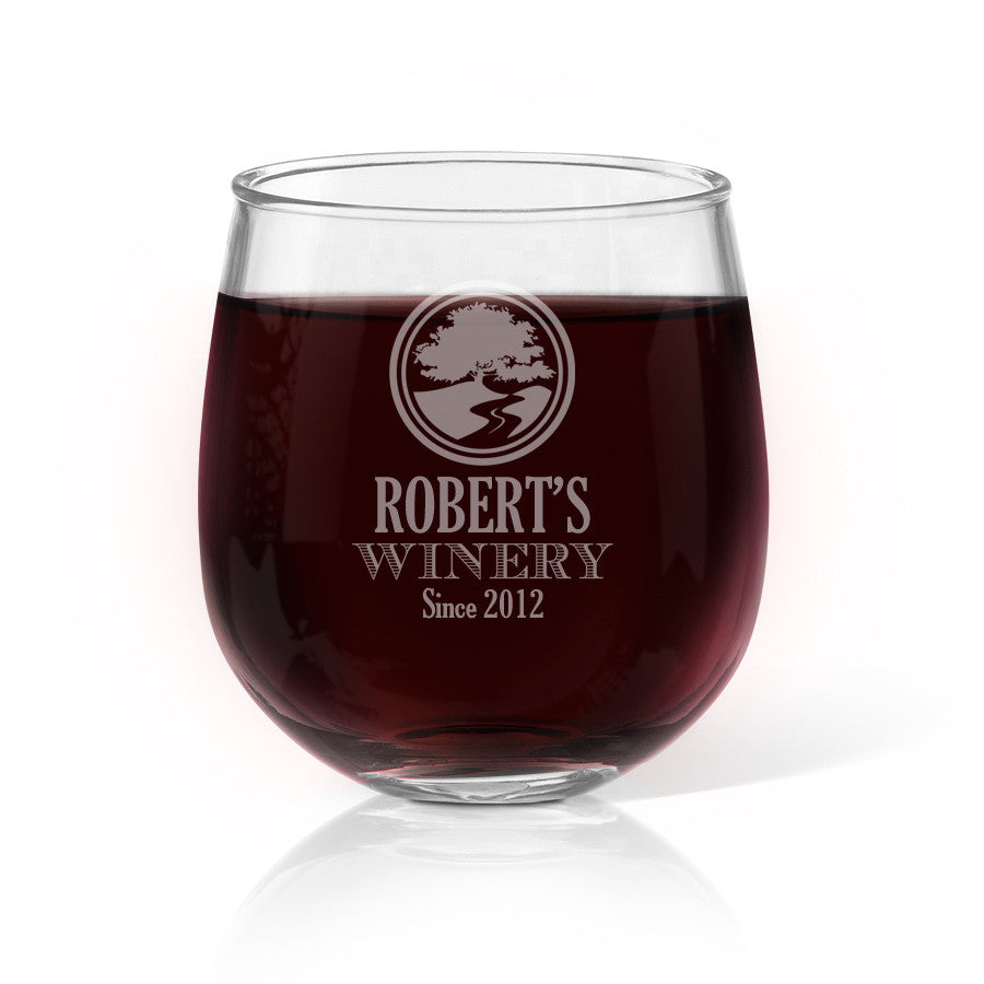 Winery Stemless Wine Glass