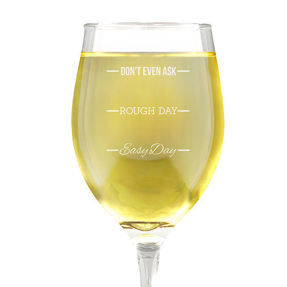 Rough Day Design Wine 410ml Glass