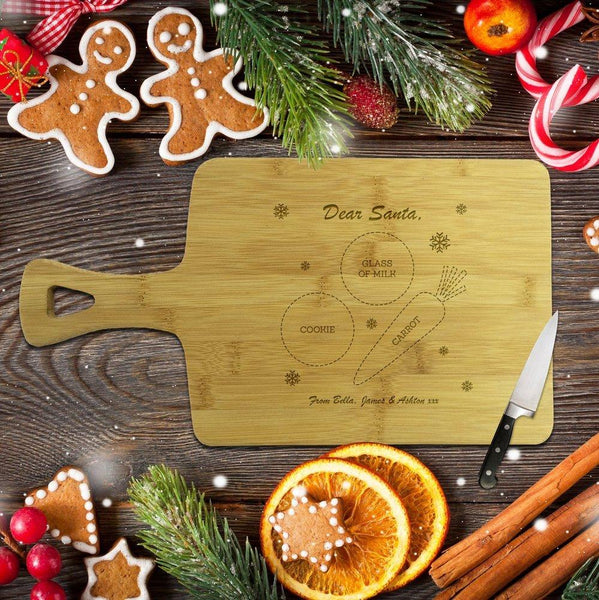 Santa Rectangle Bamboo Serving Board
