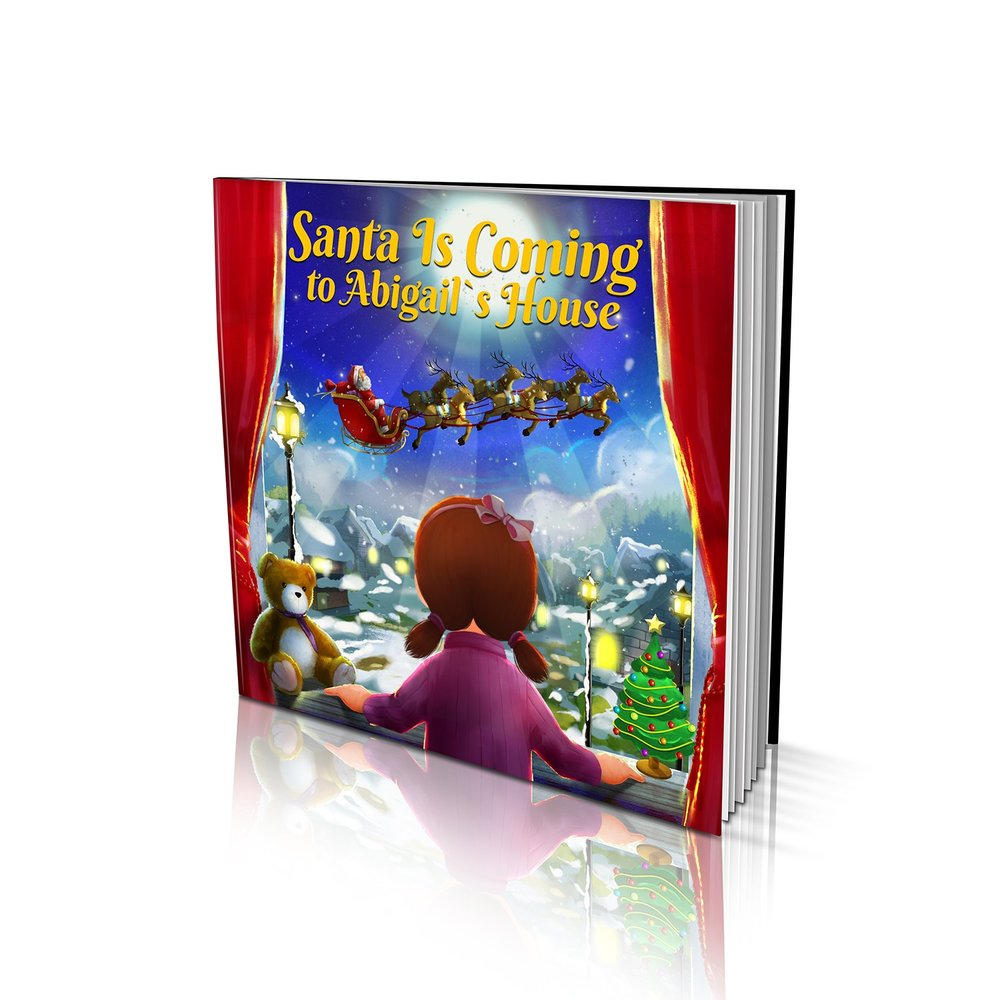 Large Soft Cover Story Book - Santa is Coming