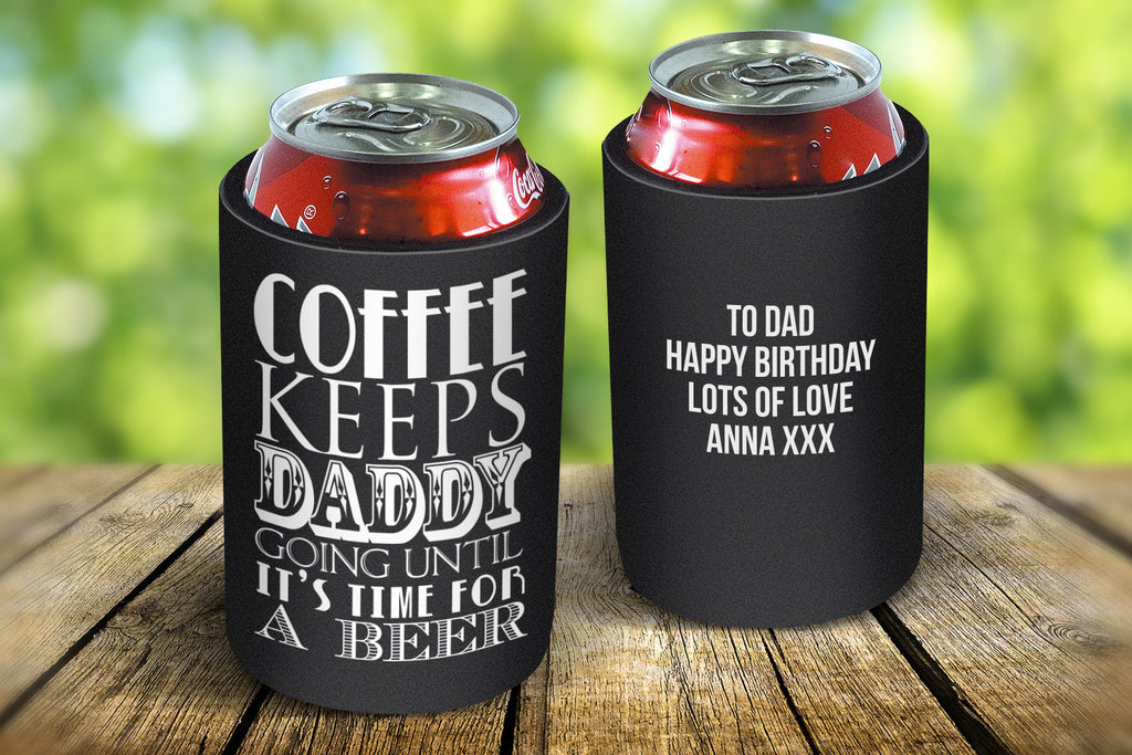 Coffee Keeps Going Stubby Cooler